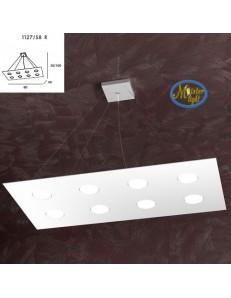 TOP LIGHT: Area sospensione rettangolare in metallo bianco 80x40cm in offerta