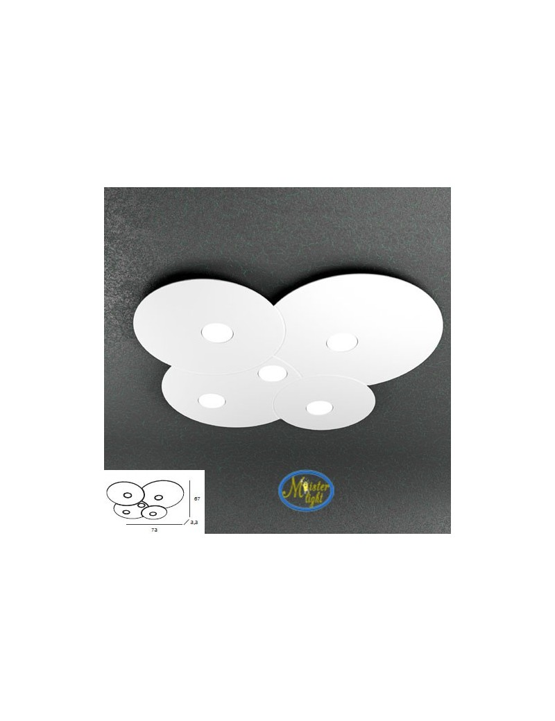 TOP LIGHT: Cloud applique plafoniera design nuvola bianco 73x67cm in offerta