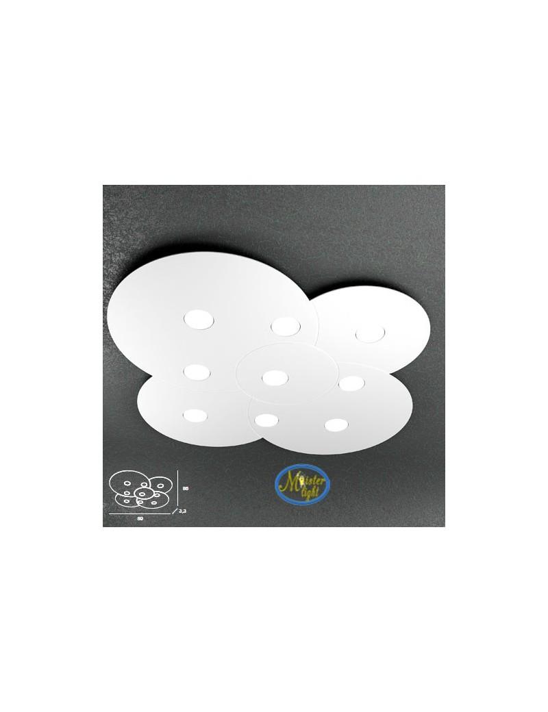 TOP LIGHT: Cloud applique plafoniera design nuvola bianco 89x86cm in offerta