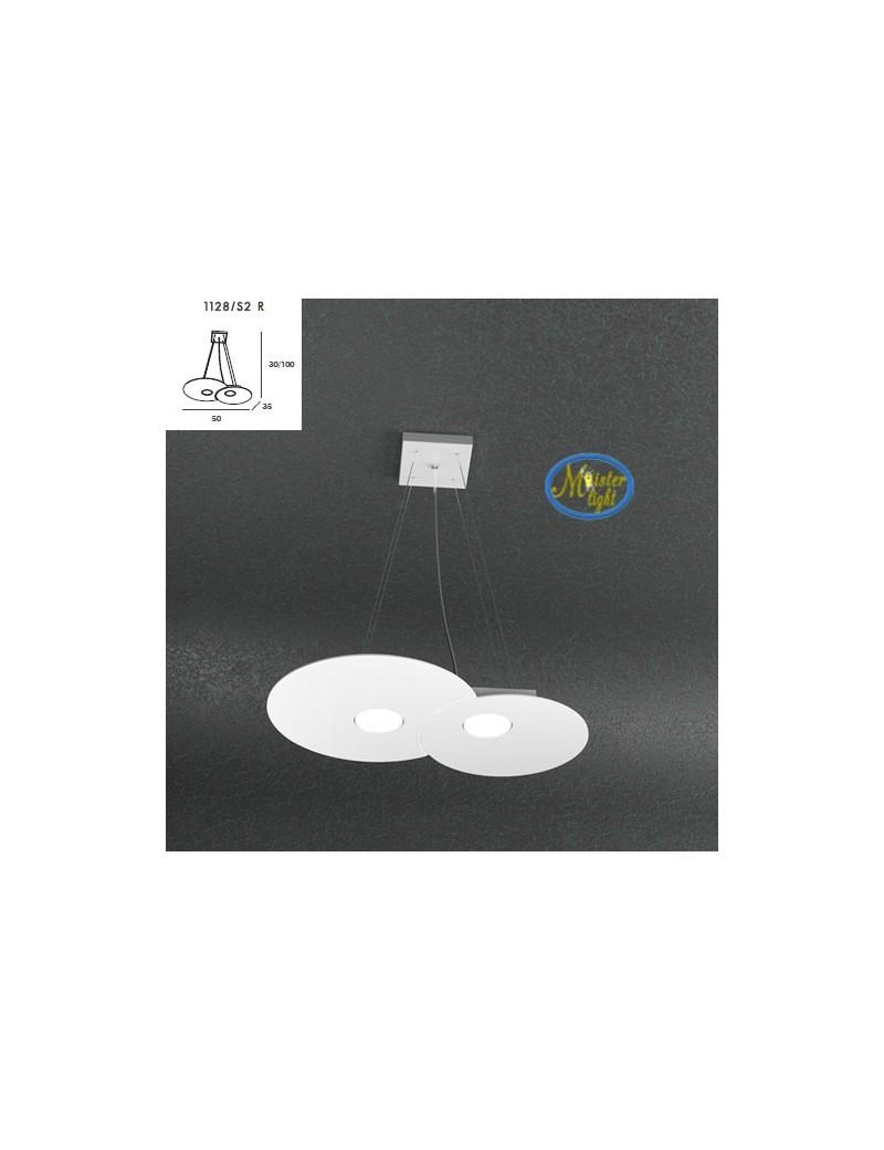 TOP LIGHT: Cloud sospensione + 1 luce bianco design nuvola 50x35cm in offerta