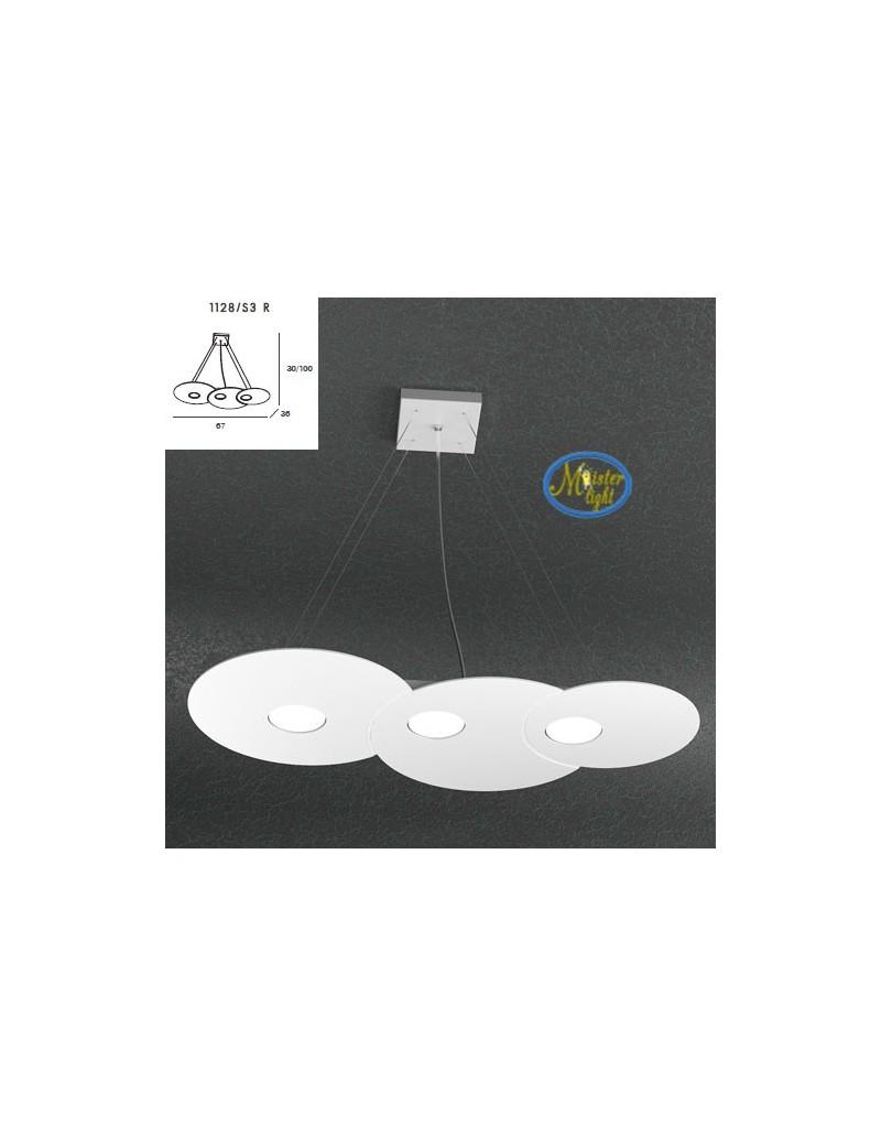 TOP LIGHT: Cloud sospensione + 2 luci soffitto bianco design nuvola 67x36cm in offerta
