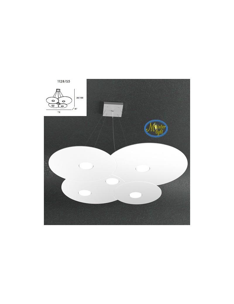 TOP LIGHT: Cloud sospensione design irregolare bianco 73x67cm in offerta