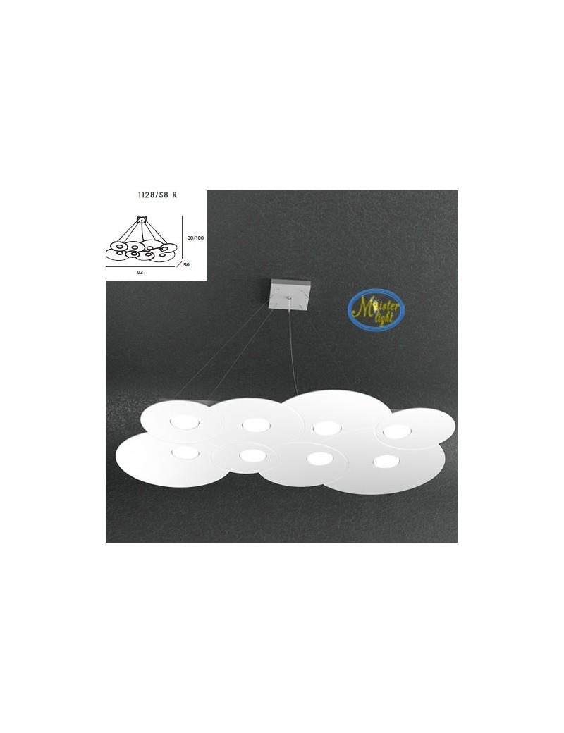 TOP LIGHT: Cloud sospensione + 3 luci bianco design nuvola 93x56cm in offerta