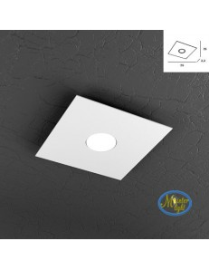 TOP LIGHT: Plate applique plafoniera quadrata in metallo design moderno in offerta