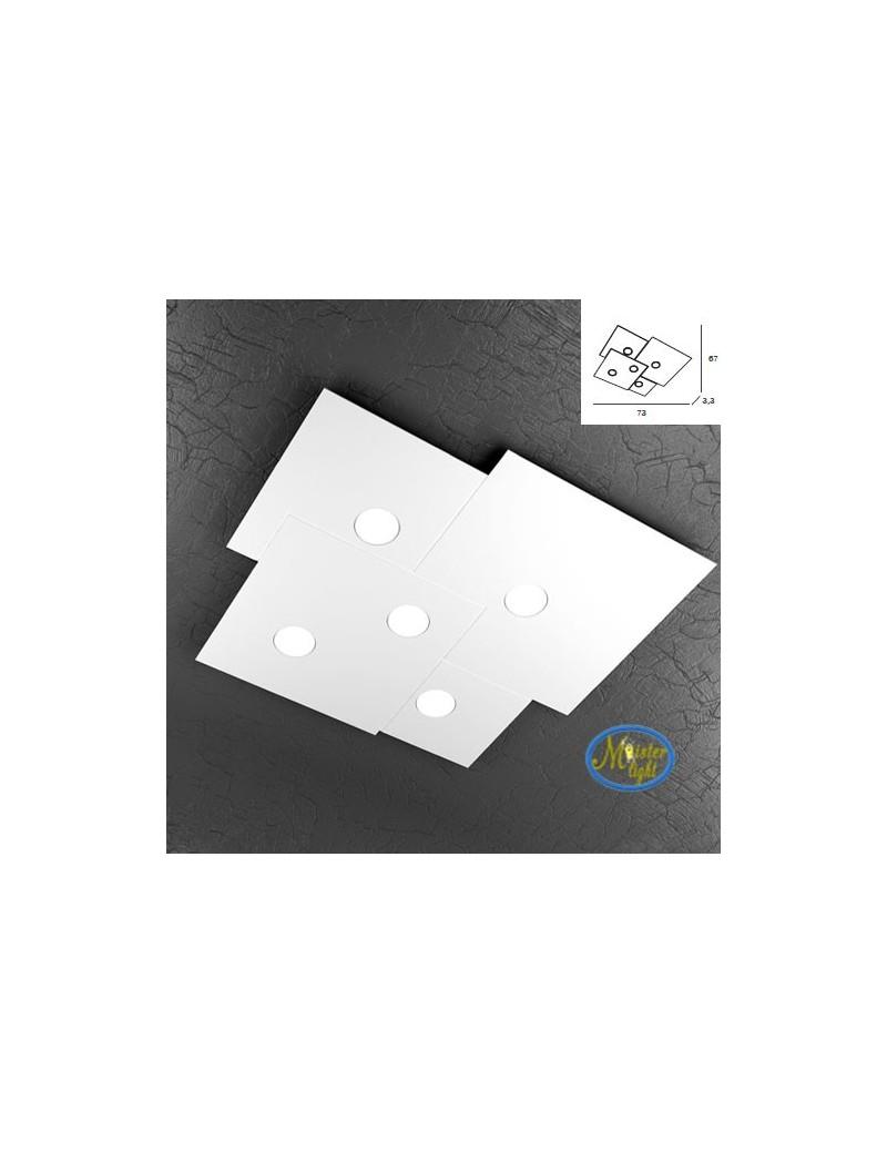 TOP LIGHT: Plate applique plafoniera quadrati incastonati in metallo 73x67cm in offerta