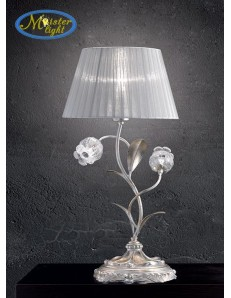 Liberty lume foglia argento riflessi oro vetri in vetro di murano