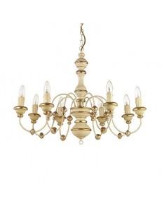 Pisa sp8 ideal lux sospensione foglia oro antichizzato effetto legno
