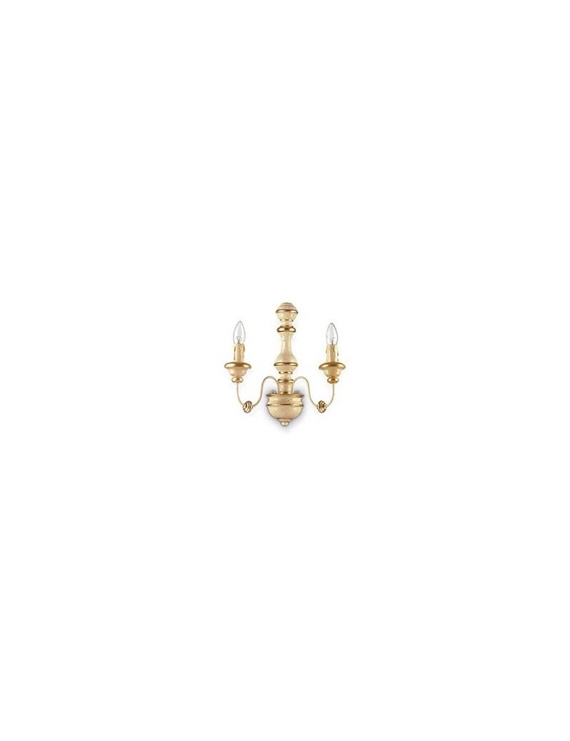 IDEAL LUX: Pisa ap2 applique foglia oro antichizzato effetto legno in offerta