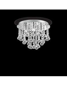 IDEAL LUX: Bijoux pl5 plafoniera con ottagoni e gocce in cristallo 31cm in offerta