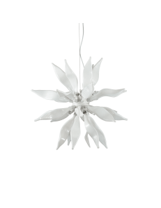 IDEAL LUX: Leaves sp8 bianco elementi decorativi in vetro soffiato in offerta