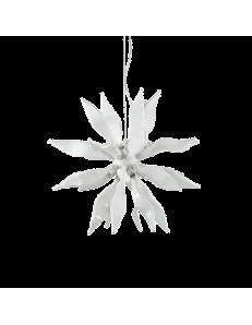 leaves sp8 bianco elementi decorativi in vetro soffiato ideal lux