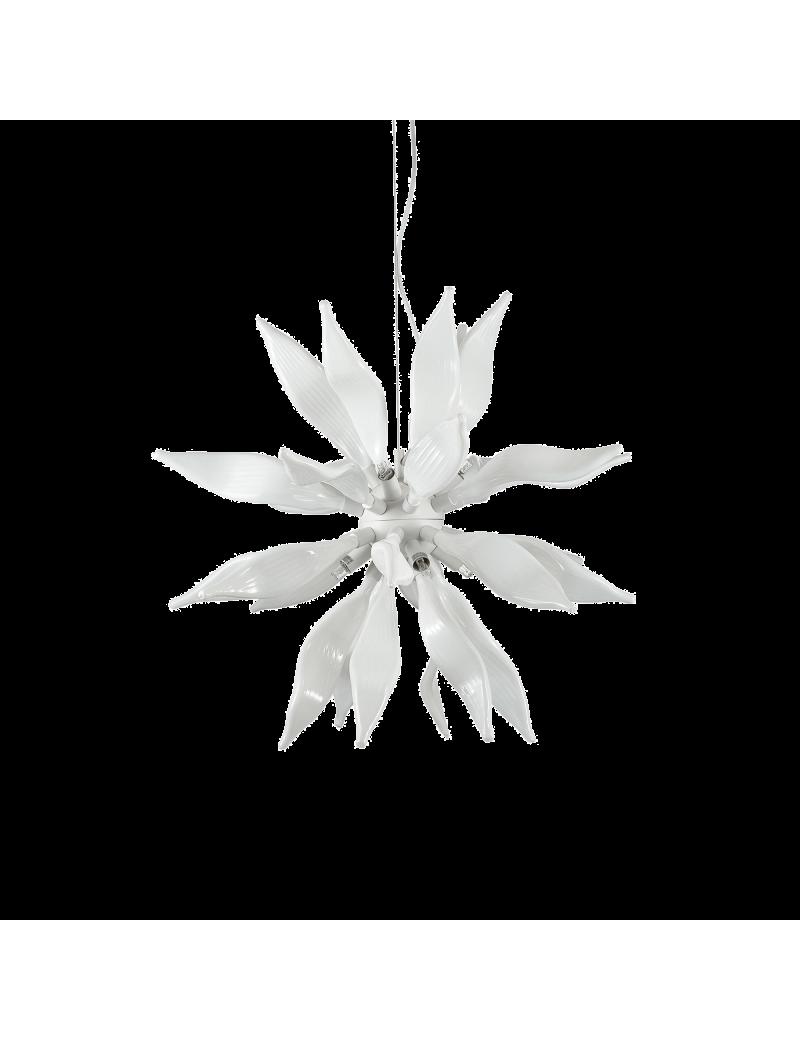 IDEAL LUX: Leaves sp8 bianco elementi decorativi in vetro soffiato in offerta