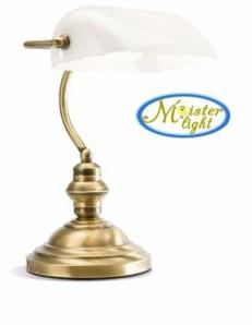PERENZ: Lampada ufficio ottone lucido brunito metallo e vetro bianco in offerta