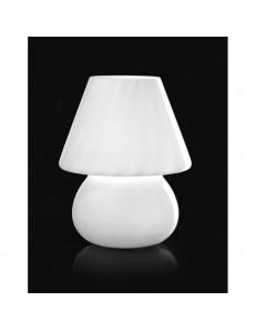 Lampada da tavolo in vetro rigadin bianco Perenz 3041 b CAMERA CAMERETTA