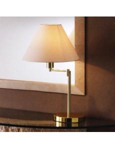 Lampada da tavolo snodabile ottone lucido con paralume in pvc PERENZ LUMETTO