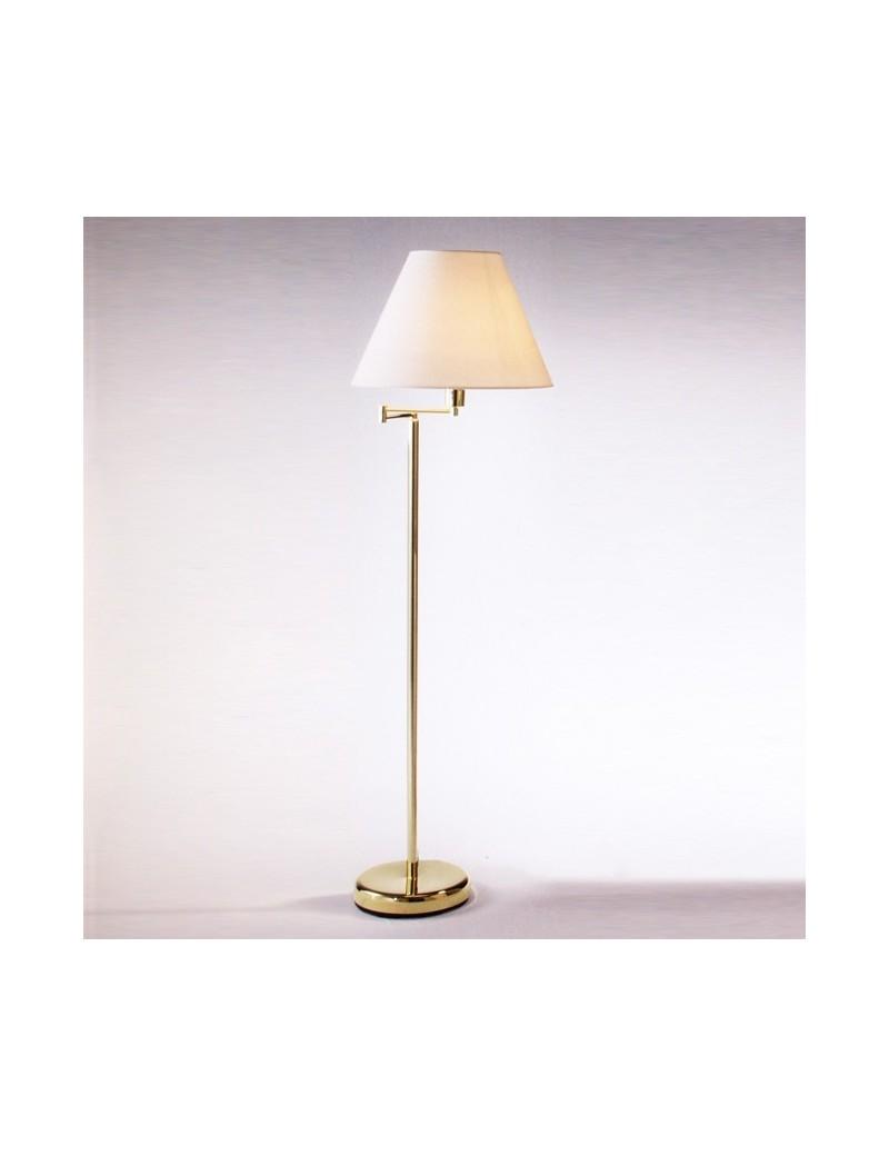 PERENZ: Lampada da terra snodabile ottone lucido con paralume in pvc in offerta