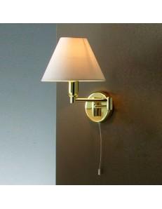 PERENZ: Lampada parete snodabile ottone lucido con paralume in pvc in offerta