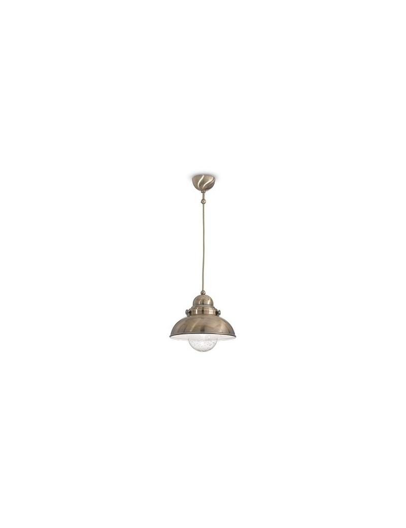 IDEAL LUX: Sailor diam 43 Corpo luce a cupola in metallo brunito Diffusore in vetro soffiato in