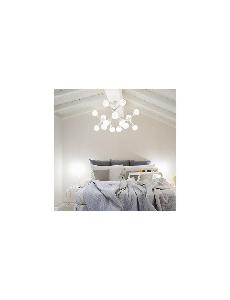 IDEAL LUX: Nodino pl15 bianco plafoniera metallo con sfere bianche in offerta