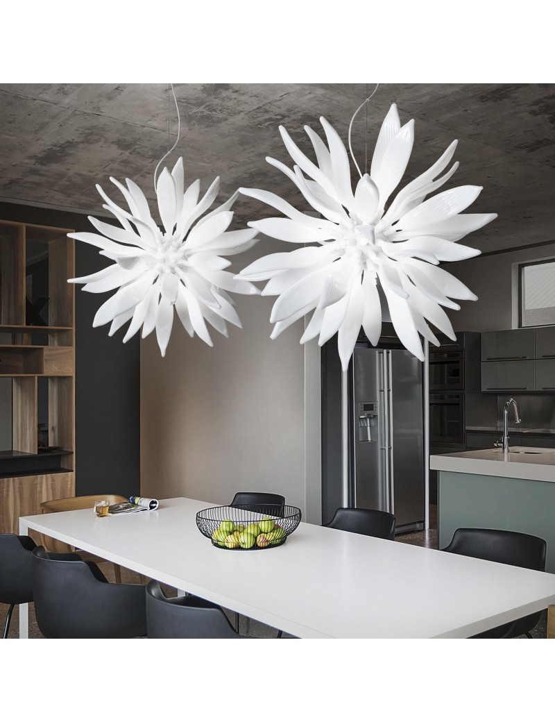 IDEAL LUX: Leaves sp12 bianco elementi decorativi in vetro soffiato in offerta