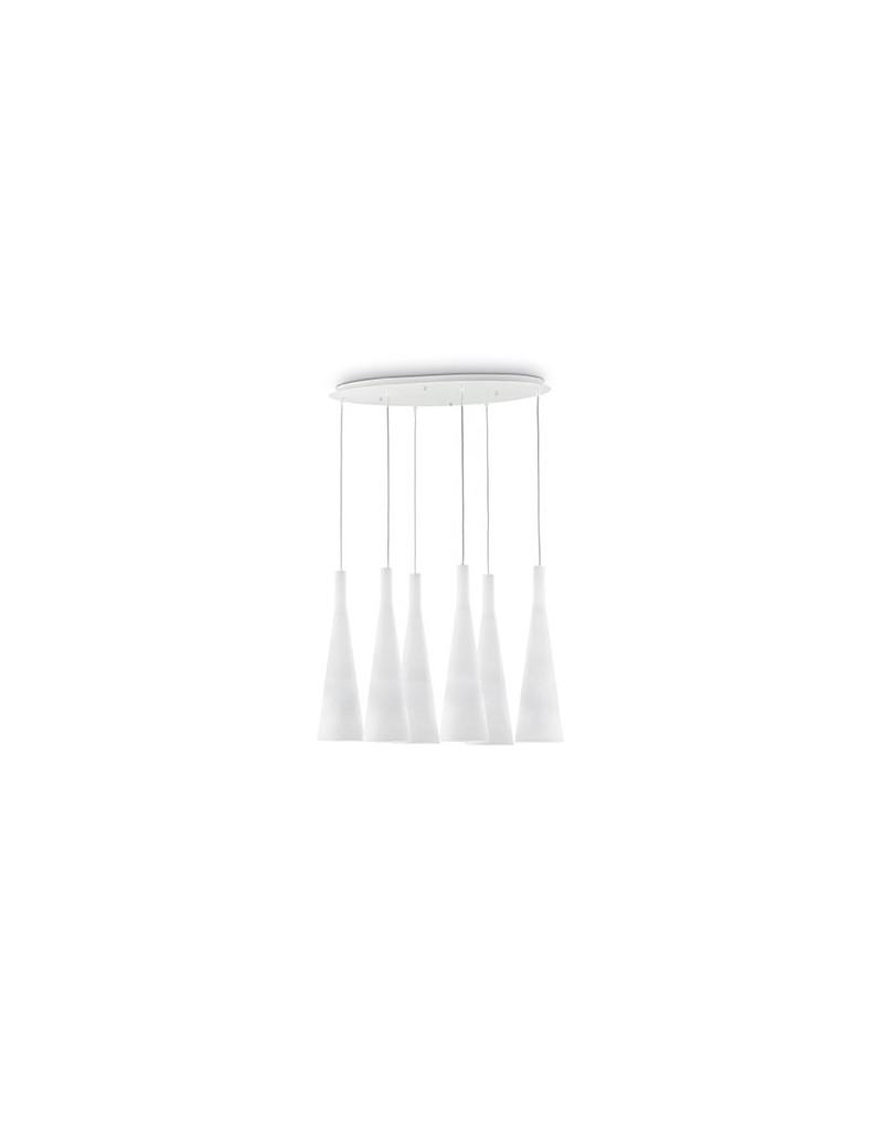IDEAL LUX PRONTA CONSEGNA: Milk sp6 sospensione ellittica con cono vetro bianco in offerta