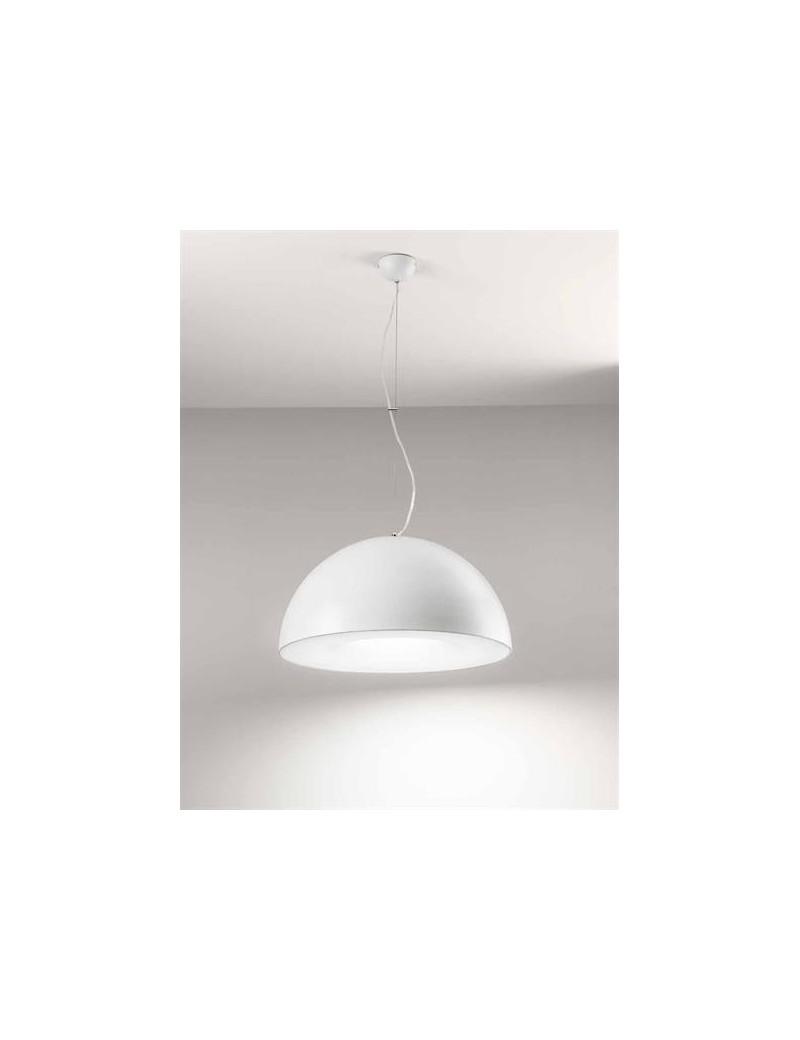 SOSPENSIONE LAMPADA 2044 LED 60W BIANCA CUCINA SOGGIORNO DIAMETRO 60CM