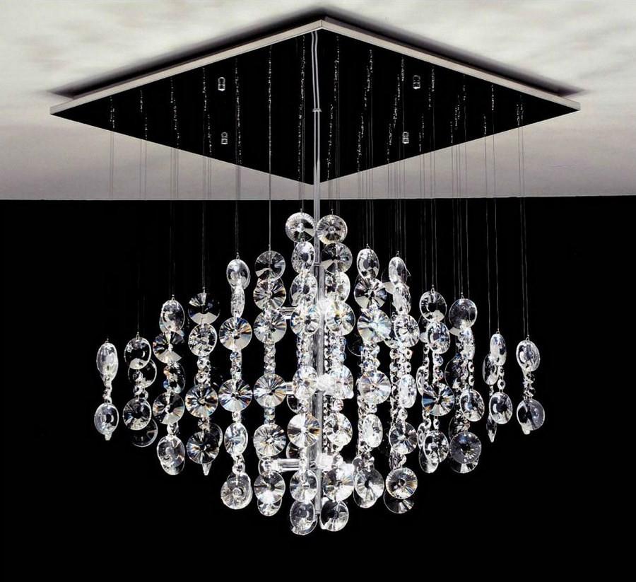 Lampadario Gocce Cristallo Moderni.Lampadario Cristallo A Cascata Elegant Lampadario Cristallo A