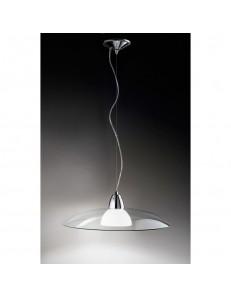 PERENZ: Lampadario a sospensione lampadario da soffitto con paralume in vetro trasparente in offerta