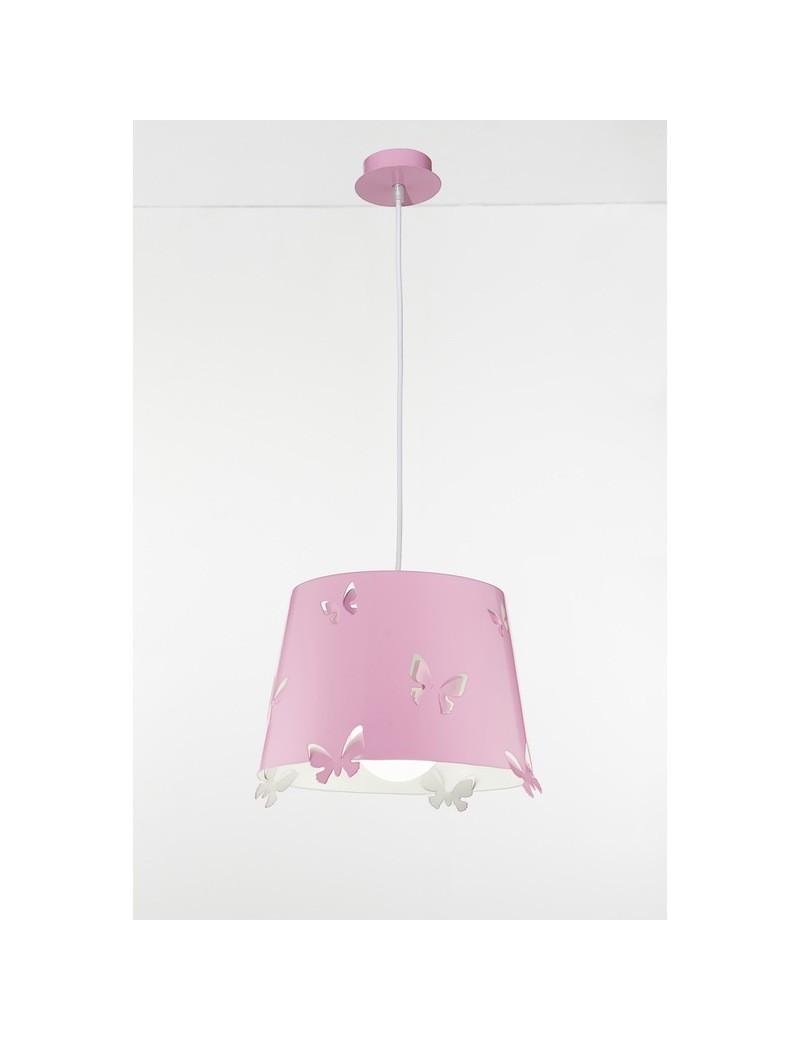 PERENZ: Lampadario a sospensione lampada rosa con farfalle rilievo in offerta