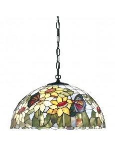 PERENZ: Lampada a sospensione realizzata in vetri tiffany con catena in offerta