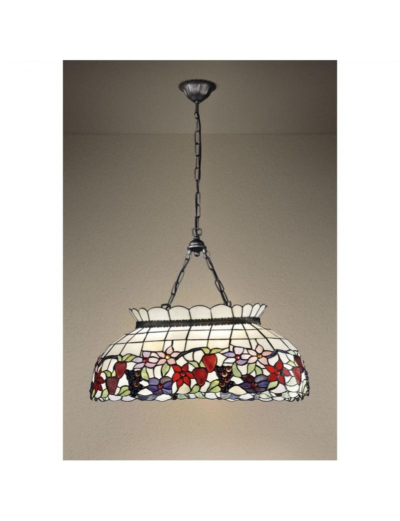 PERENZ: Tiffany t994s lampadario a sospensione decorato con fiori e frutta in offerta