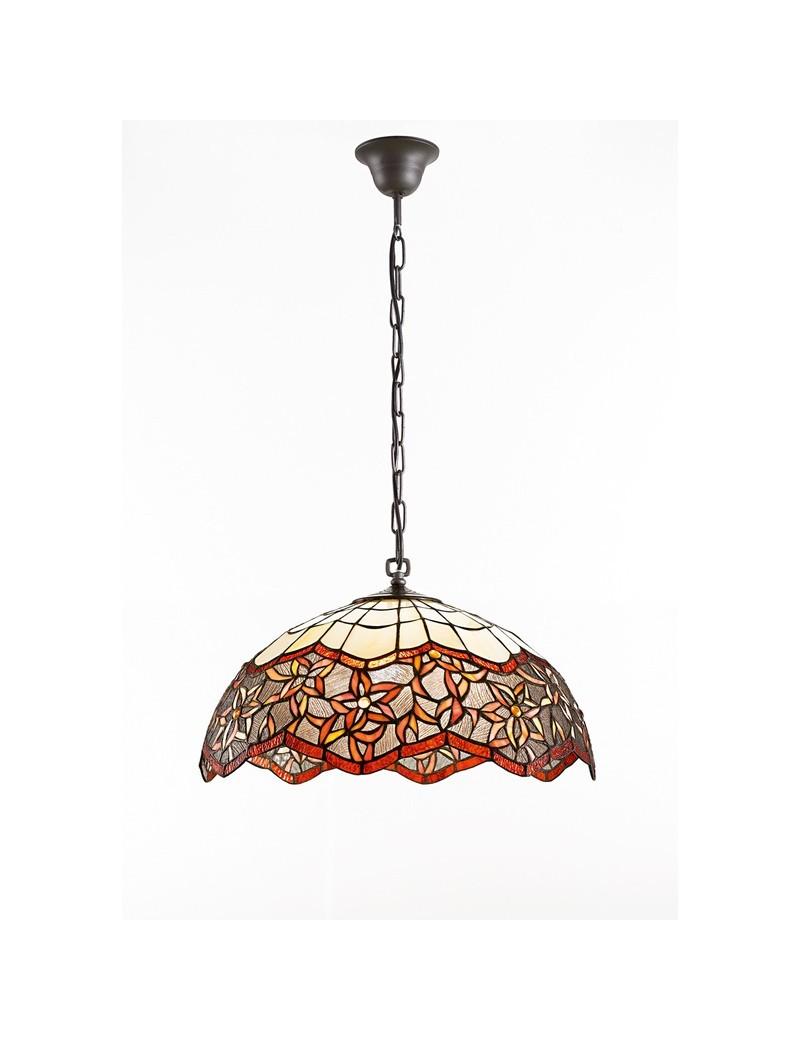 PERENZ: Tiffany t962s lampadario a sospensione tondo con motivo floreale in offerta