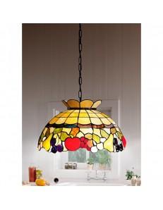 PERENZ: Tiffany t923s lampadario decorato con frutta colorata mela uva in offerta