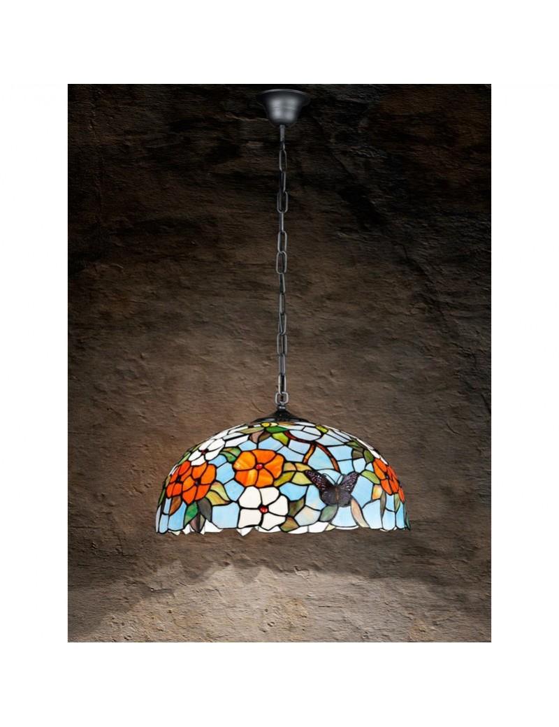 PERENZ: Lampada a sospensione decorata con farfalle fiori e foglie in offerta