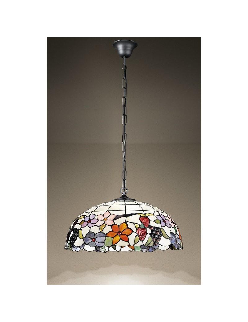 PERENZ: Tiffany t990s lampadario a sospensione decorato con fiori e frutta in offerta