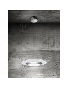 Perenz: Lampada a sospensione LED cromo lucido con vetro