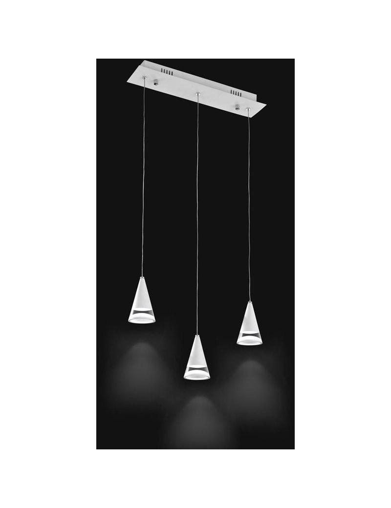 PERENZ: Lampada a sospensione LED color bianco e acrilico barra diffusori regolabili in offerta