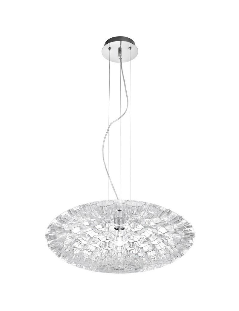 PERENZ: Unica lampada sospensione realizzato in acrilico trasparente 54cm in offerta
