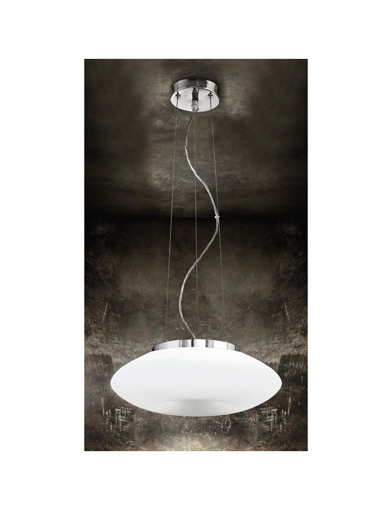 PERENZ: Lampadario sospensione vetro bianco regolabile in offerta