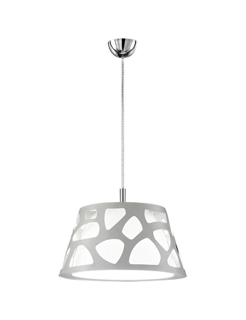 PERENZ: Lampada sospensione metallo traforato acrilico bianco lineare in offerta