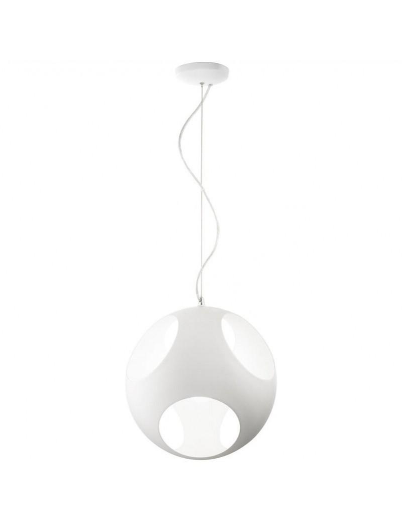 PERENZ: Sospensione sfera forata metallo bianco regolabile 36cm in offerta