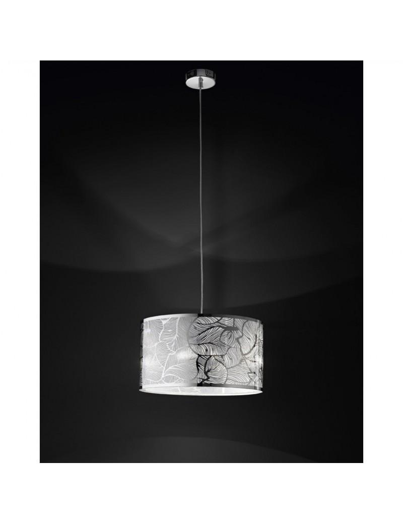 PERENZ: Lampada sospensione acciaio cromo lucido disegno decorativo foglie in offerta