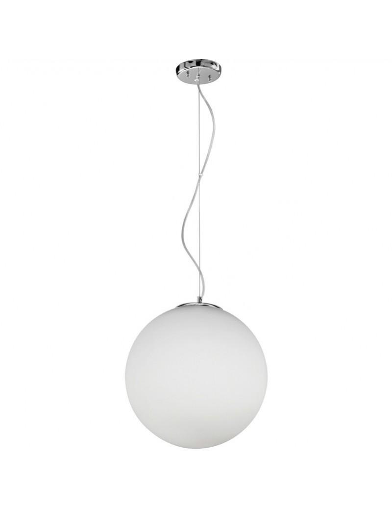 PERENZ: Lampada da soffitto con montatura in cromo lucido e vetro bianco sfera in offerta