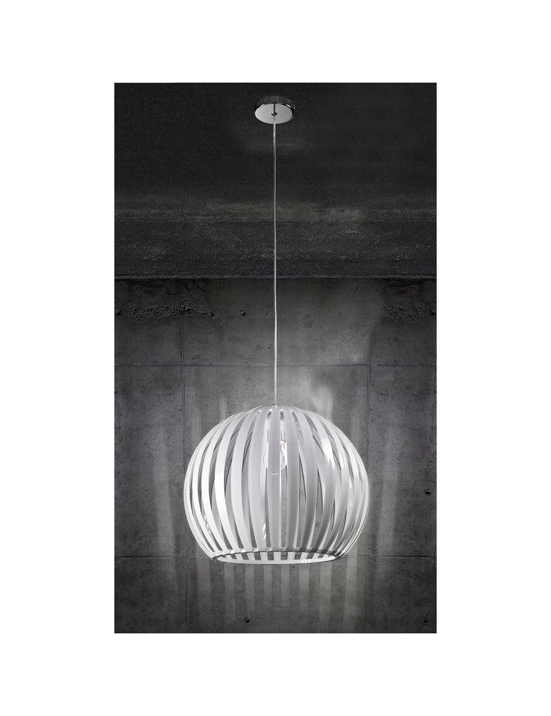 PERENZ: Sospensione in acrilico bianco sfera 40cm in offerta