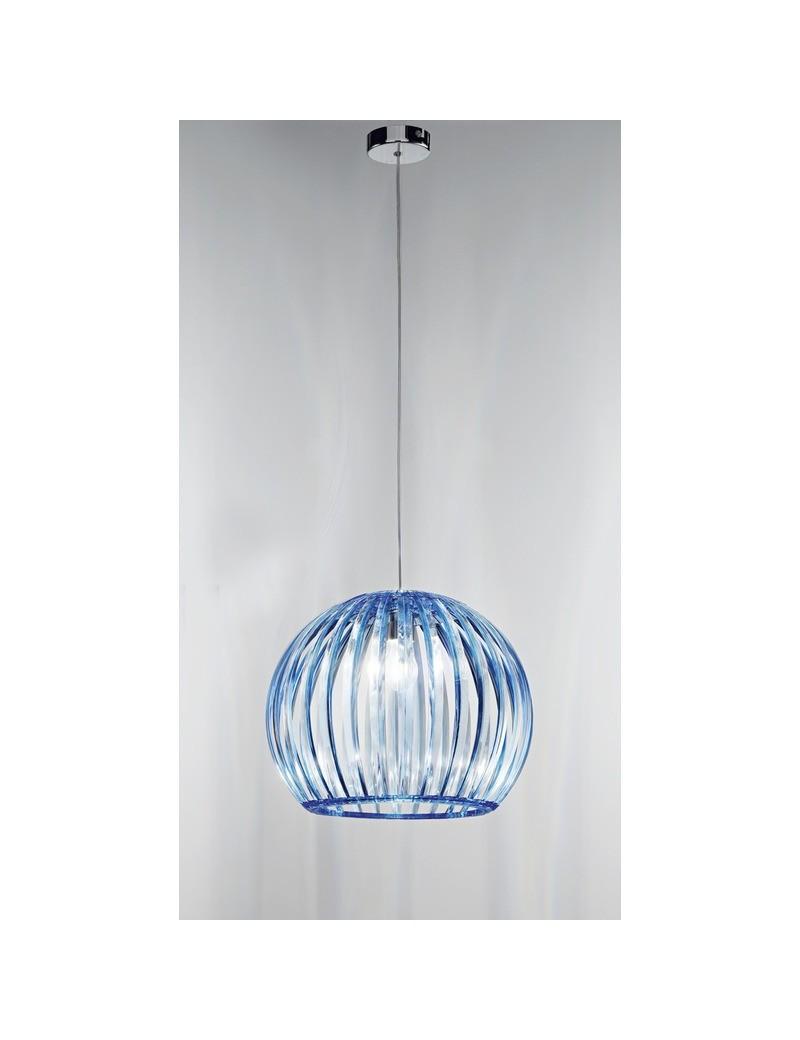 PERENZ: Sospensione in acrilico azzurro sfera 40cm in offerta