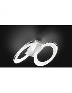 PERENZ: Plafoniera LED metallo bianco doppio anello acrilico in offerta
