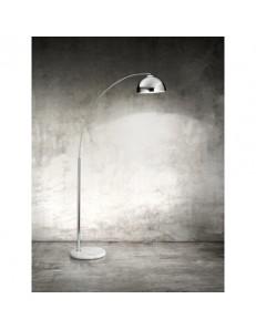 4324 Lampada piantana con corpo in cromo lucido e base in marmo PERENZ
