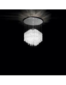 IDEAL LUX PRONTA CONSEGNA: Majestic montatura circolare in metallo con canne di vetro bianco