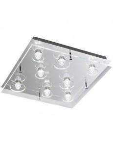 6300 PLAFONIERA METALLO diffusore vetro trasparente LED PERENZ quadrata