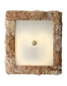 373 R APPLIQUE quadrata rivestita in pietra naturale rosa scolpita PERENZ